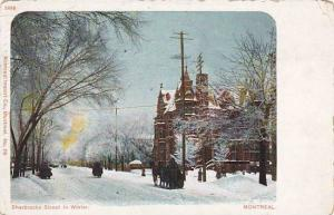 Sherbrooke Street in Winter, Montreal, Quebec, Canada,   PU-1904