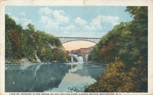 Genesee River Gorge below Driving Park Avenue Bridge Rochester NY New York 1922