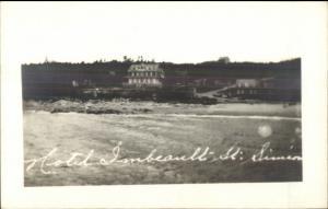 Saint St. Simeon Quebec Hotel Imbeault Real Photo Postcard