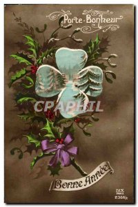 Festivals - Wishes - Happy New Year - Holly - holly - Good Luck - Old Postcard