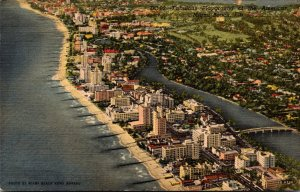 Florida Miami Beach Aerial View Curteich