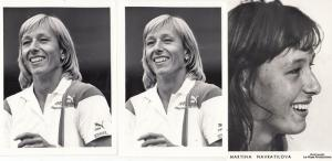 Martina Navratilova USA Wimbledon Tennis Champion 3x Vintage Photo s Bundle