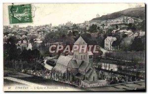Old Postcard Etretat L & # 39Eglise and Panorama