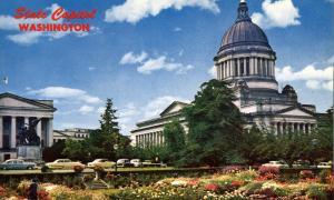 Olympia WA, Washington - State Capitol and Sunken Gardens