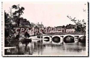 Postcard Old Trimouille Vienne Bridge