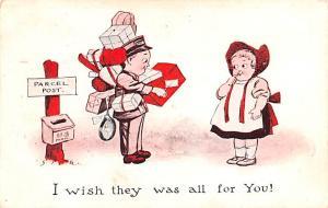 Postal Cartoon Writing, No Stamp