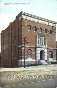 Rutland Vt. USA Mason, Mason's Fraternal Organization, Postcard Post Card  Ru...