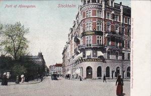 Sweden Stockholm Parti af Hamngatan Street Scene 1913