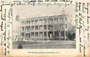 The New Howard House, Port Byron, New York ca 1910s Vintage Postcard