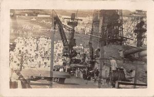 Guantanmo Cuba Navy Fleet Smoker Real Photo Antique Postcard J68231