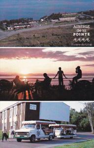 RIVIERE DU LOUP, Quebec, Canada, 1940-1960's; 3-Views, Auberge De La Pointe