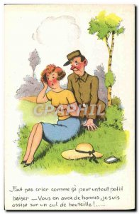 Postcard Old Humor Army Soldier