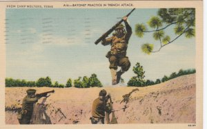 CAMP WOLTERS , Texas , 1930-40s ; Bayonet Practice