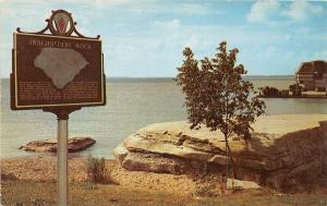 E23/ Kelleys Island Ohio Postcard Put-In-Bay Chrome Inscription Rock Lake Erie 1
