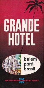 Brasil Rio De Janeiro Hotel Globo Vintage Luggage Label sk3996