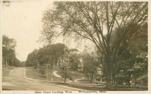 C-1910 Williamston Massachusetts Main Street West Lyon View RPPC postcard 9641