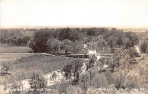 D69/ Vermillion South Dakota SD Postcard Real Photo RPPC c40s Bottoms Bridge