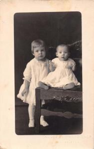 BABIES~CHILDREN LOT OF 4 REAL PHOTO POSTCARDS 1910s ONE IDENTIFIED LUCELLA FRANK