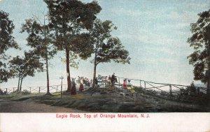 Eagle Rock, Top of Orange Mountain, West Orange, N.J., Early Postcard, Unused