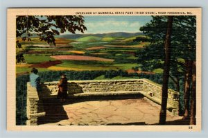 Frederick MD-Maryland, Overlook, Gambrill State Park, Linen Postcard