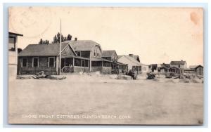 Postcard Shore Front Cottages, Clinton Beach, CT 1947 D11