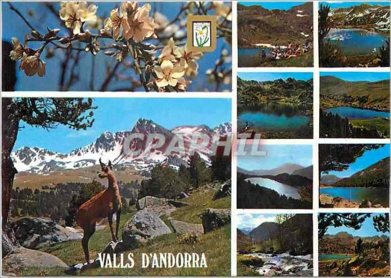 Modern Postcard Valleys of Andorra Various aspects