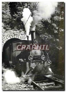 Old Postcard train to Le Locle at the exit of the Tunnel du Chatelard