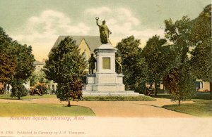 MA - Fitchburg. Monument Square