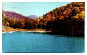 1974 Lake at Reservoir at Woodstock, VA Postcard
