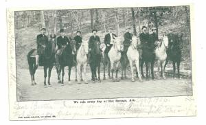 1906 Hot Springs, Ark, Riders and horses