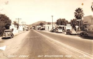 Wickenburg Arizona~Wickenburg Way~Jean's Corral~Budweiser~Buffet~1930s Cars~RPPC