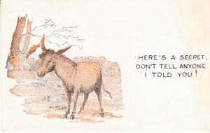 Here's a Secret - Don't Tell Anyone - Donkey Comics
