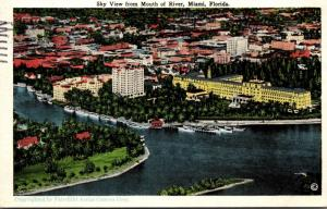 Florida Miami Sky View From Mouth Of River 1928