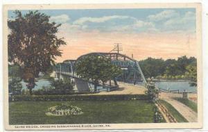 Sayre Bridge, Crossing Susquehanna River, Sayre,Pennsylvania, PU-1916