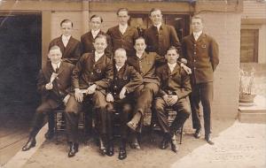 Men Posing In Uniform C E Wooley Lakewood New Jersey
