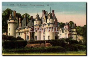 Usse - The Castle - View of & # 39ensemble - Old Postcard