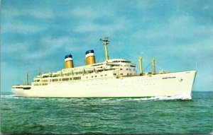 Boat Ship SS Constitution American Export Isbrandtsen Lines Postcard Old POSTED