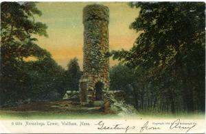The Norumbega Tower, Waltham MA, Massachusetts - pm 1905