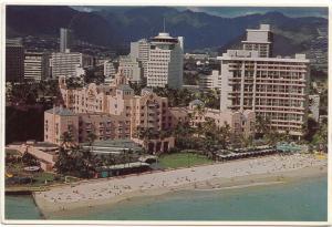 The Royal Hawaiian Hotel, Sheraton, Waikiki Beach, 1982 used Postcard