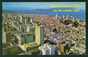 Fairmont Hotel and Tower Crown Room Lounge Aerial View San Francisco California
