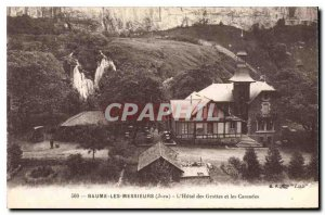 Old Postcard Baume les Messieurs Jura Hotel Caves and Waterfalls