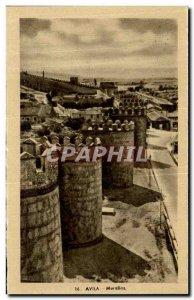 Old Postcard Avila Murallas