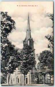 NAPLES, New York  NY    M.E.  CHURCH  1911  Ontario County  Postcard