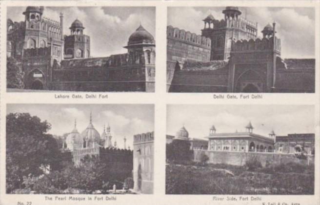 India Fort Delhi Lahore Gate Delhi Gate Pearl Mosque & River Side