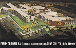 Air view, Frank Grisdale Hall, (Student Residence Complex), Olds College, Old...