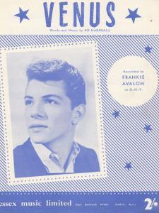 Venus Frankie Avalon 1950s Sheet Music