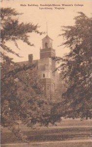 Virginia Lynchburg Main Building Randolph Macon Womans College Albertype