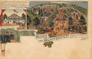 Zschopau Germany Gruss Vom Schützenfest Postcard