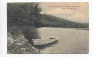 Boat Landing on the White Water River, New Trenton, Indiana PU-1926