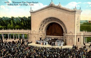 San Diego, California - Afternoon Pipe Organ Recital in Balboa Park - c1910